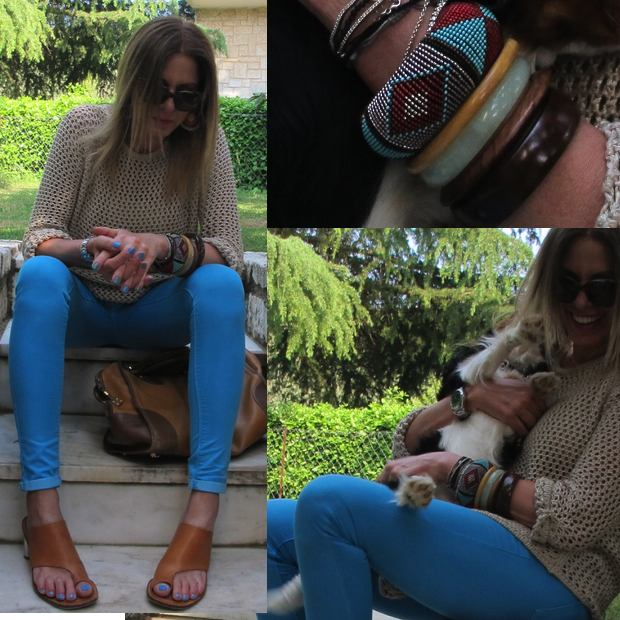 Blue jeans Outfit Collage