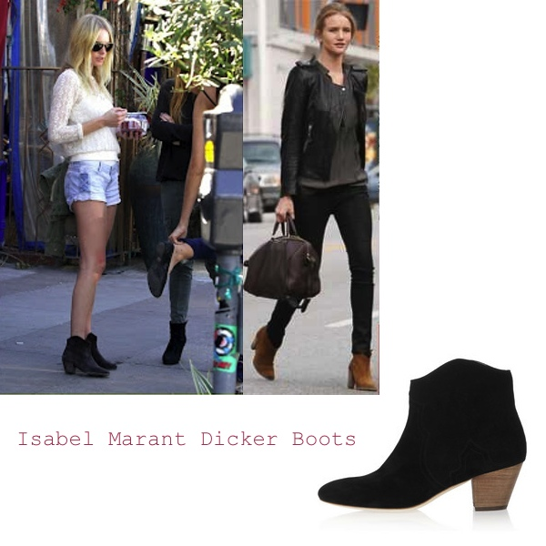 Celebrities Isabel Marant Dicker boots