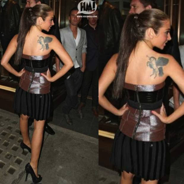 Celebrity Back Tattoo