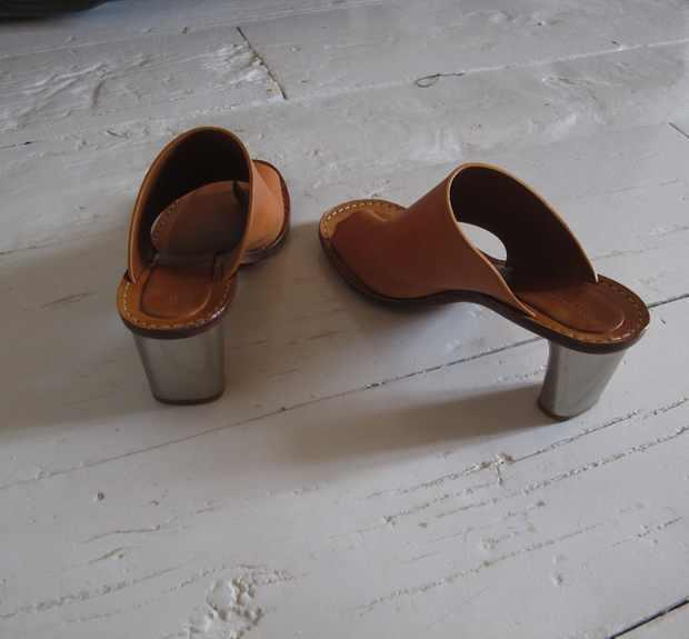 Celine sandals metal heels