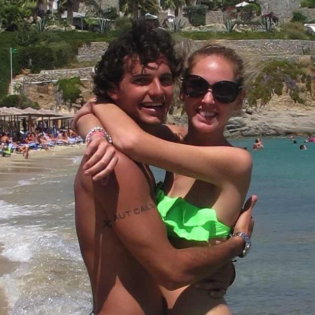 Chiara Richie Mykonos Greece hugging
