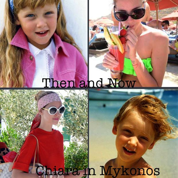 Chiara Ferragni The Blonde Salade in Mykonos Then and Now Collage Trendsurvivor