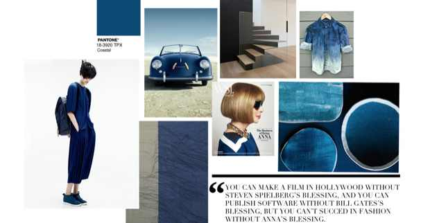 Curated Blue Trendland Collage