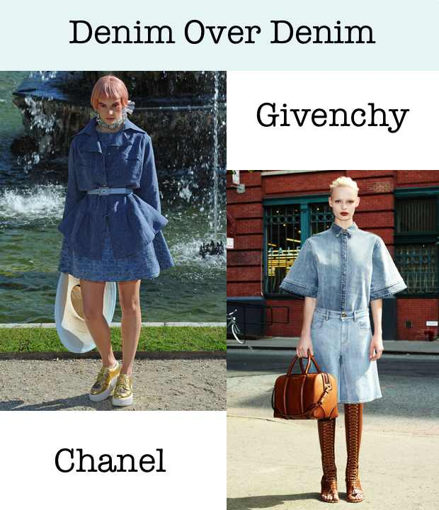 Denim over Denim Chanel Givenchy Collage