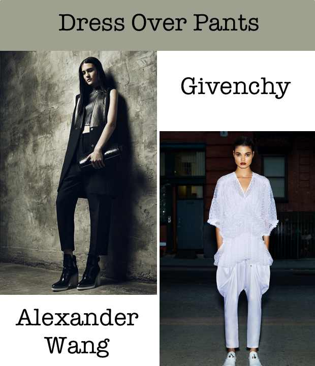 Dress Over Pants Alexander Wang Givenchy