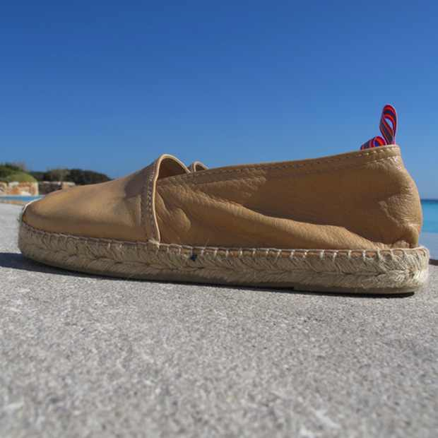 Espadrilles nude leather