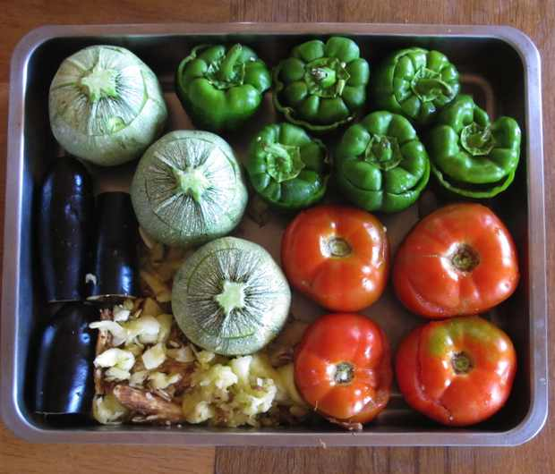 Greek food, gemista