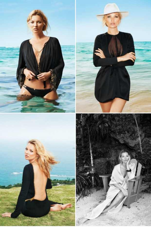 Kate Moss in Harpers Bazaar June 2012 wearing all black