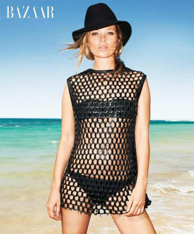Kate Moss in Harpers Bazaar June 2012 wearing Alexander McQueen