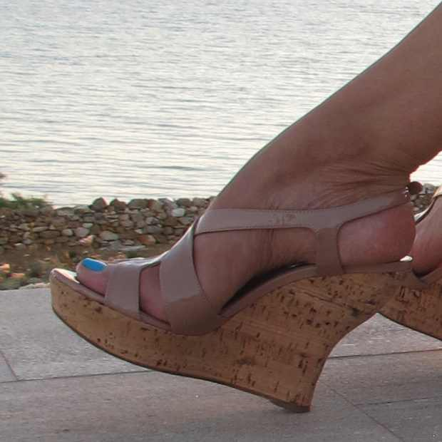 Miu Miu wedges nude color