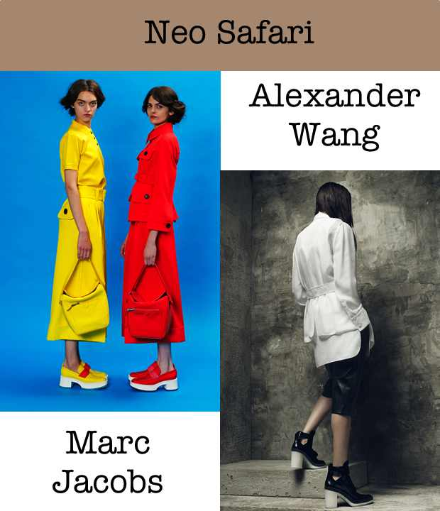 Neo safari collage Marc Jacobs Alexander Wang