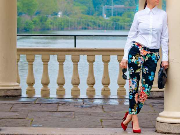 Veronica's H and M pants Floral