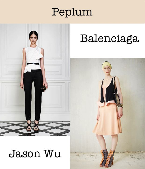 Peplum Trend collage Jason Wu Balenciaga