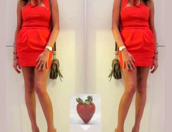 Preen Red Net a Porter Dress Collage, Nina Papaioannou