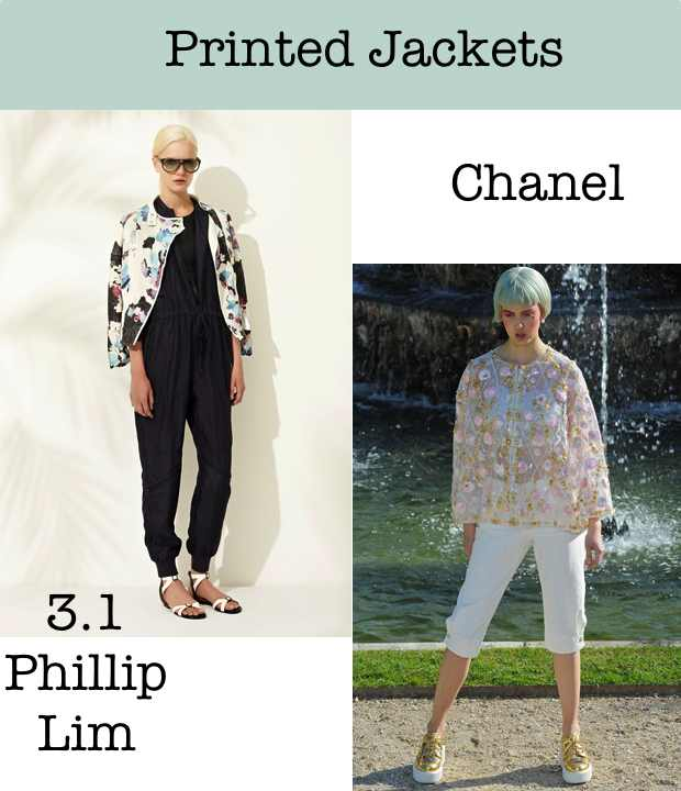 Printed Jackets Collage Philip Lim Chanel