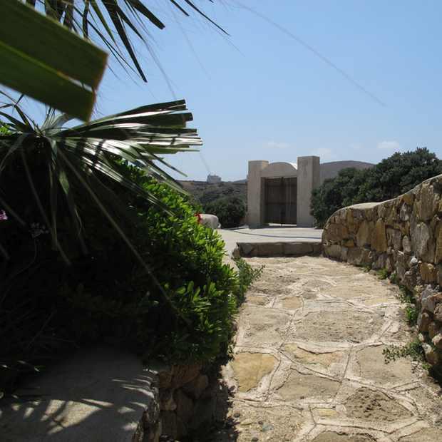 Retro Chic Villa, Mykonos, entrance, rent