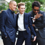 MAKING AN ENTRANCE Tommy Ton captures the arrivals scene at the CFDA Fashion Awards Public School's Maxwell Osborne and Dao Yi-Chow, with Edita Vilkeviciute, in Public School,