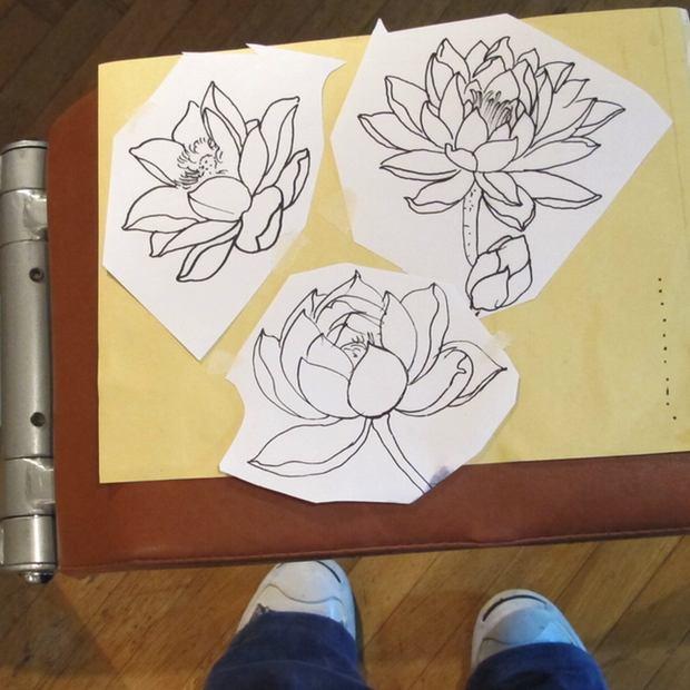 My tattoo lotus flower designs
