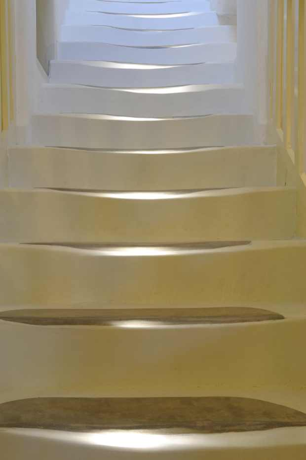 Traditional sculpted stairs Mykonos
