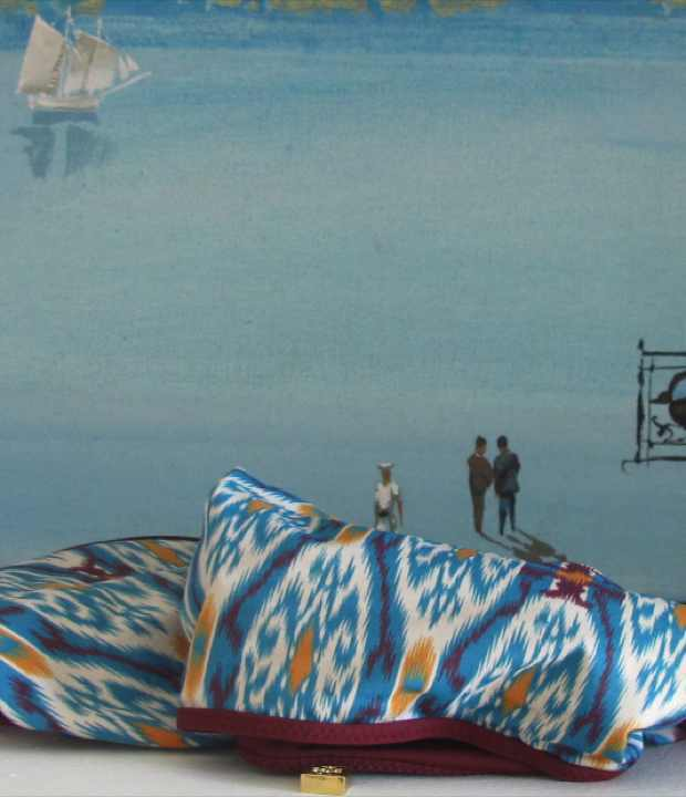 Spyros Vassiliou Greek Painting , Tory Burch swim suit