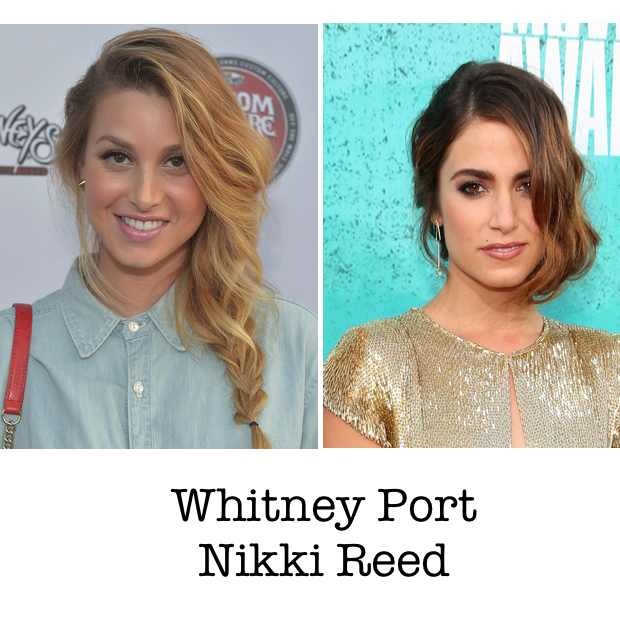 Whitney Port Nikki Reed Collage hairstyle 2012