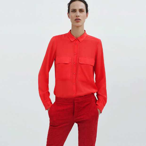 Zara Total red look