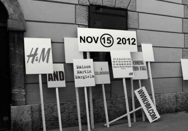Announcement picture H and M collaboration Maison Martin Margiela