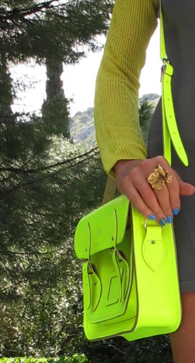 Yellow Neon Bright The Cambridge Satchel Company, Panagiotis Linardakis Ring