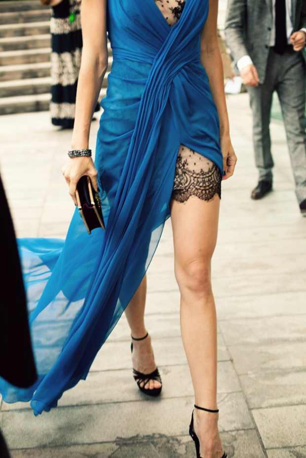 CFDA Awards 2012 Red Carpet dresses blue dress back lace Jessica Stam in Jason Wu