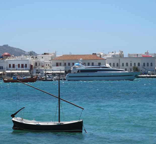 boats and yachts, Mykonos Port