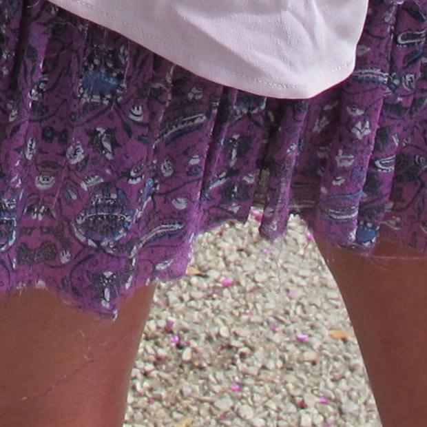 Isabel Marant silk pink dress, detail