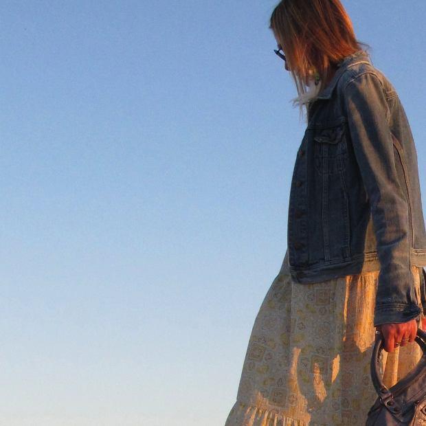 jeans jacket, Balenciaga Boho chic Pastels