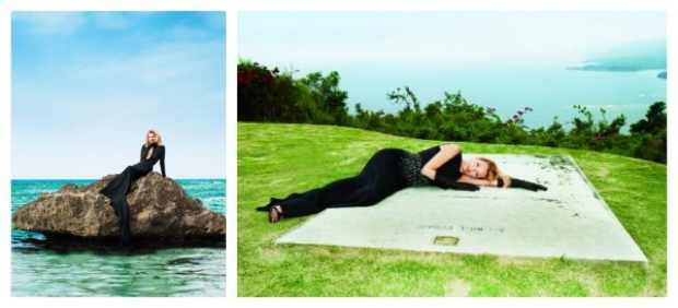Kate Moss in Harpers Bazaar June 2012 wearing Black Dress