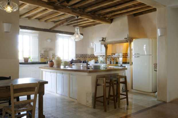 kitchen, Mykonos, Villa, Traditional Cycladic Modern