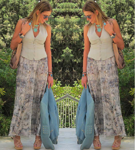 Hippie luxe outfit post