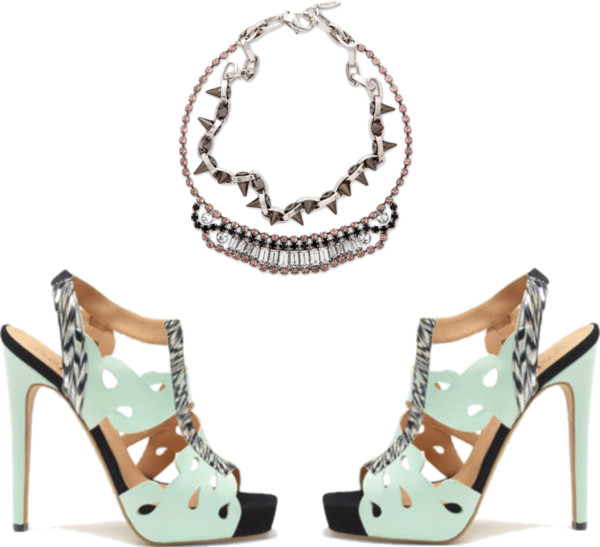 sandals Aperlai half tiffany necklace