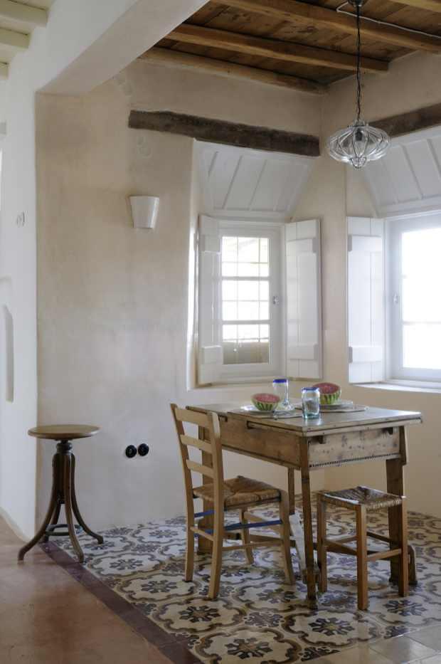 table kitchen area