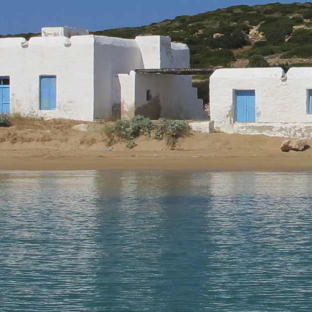 traditional cycladic architecture Paros Lageri beach