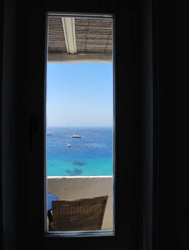 view sea Mykonos Blu Hotel