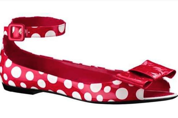 Kusama-Louis-Vuitton-Red-white-Flats