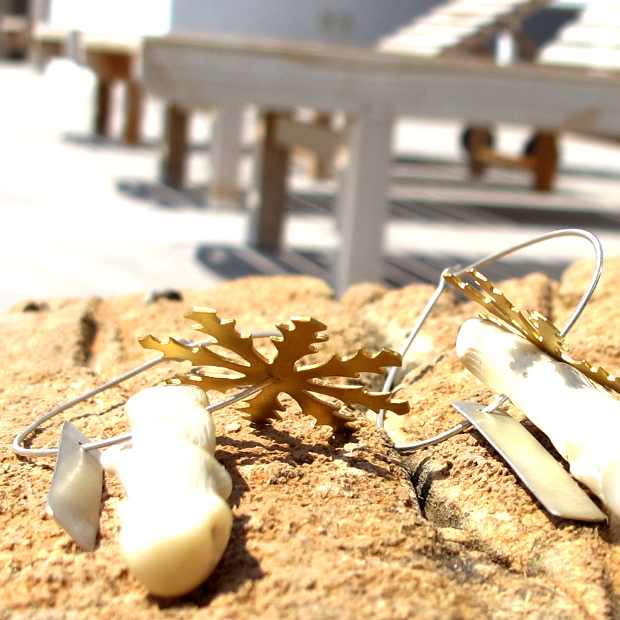 ACTUS earrings Paros Handmade jewelry