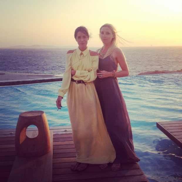 Amlul blog Greece. Mykonos, Adolfo Dominguez dress