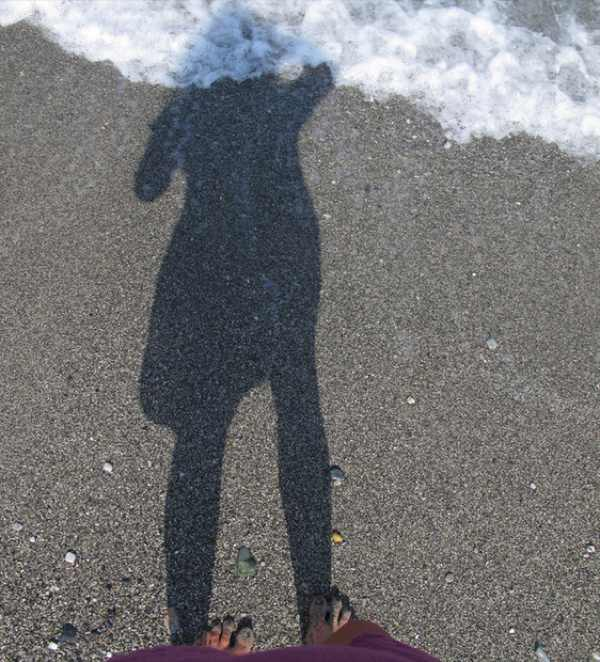 Beach Skopelos Beach shadow