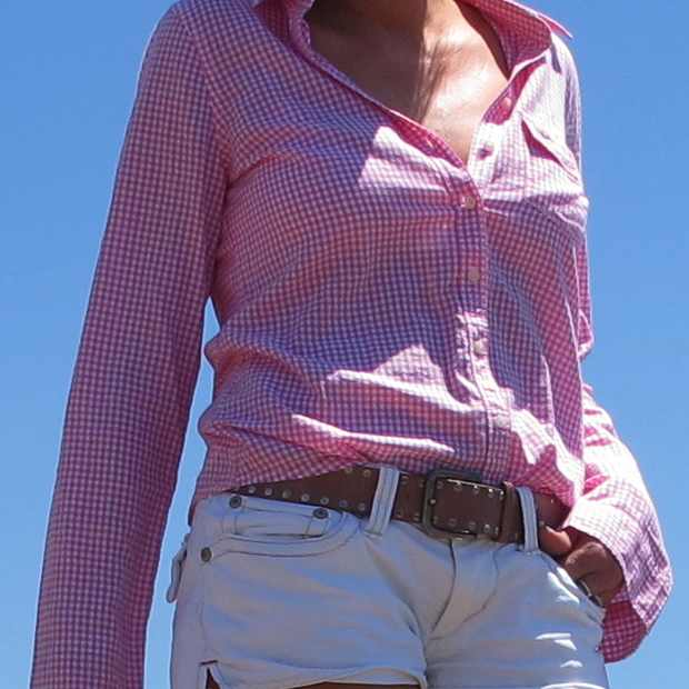 Beach Summer Pink shirt Outfit belt
