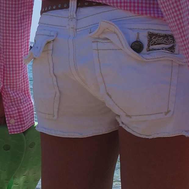 Beach Summer Pink shirt Outfit shorts, Stitch's