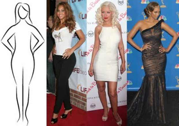 Beyonce,Taira,Banks Celebrities Pear shape