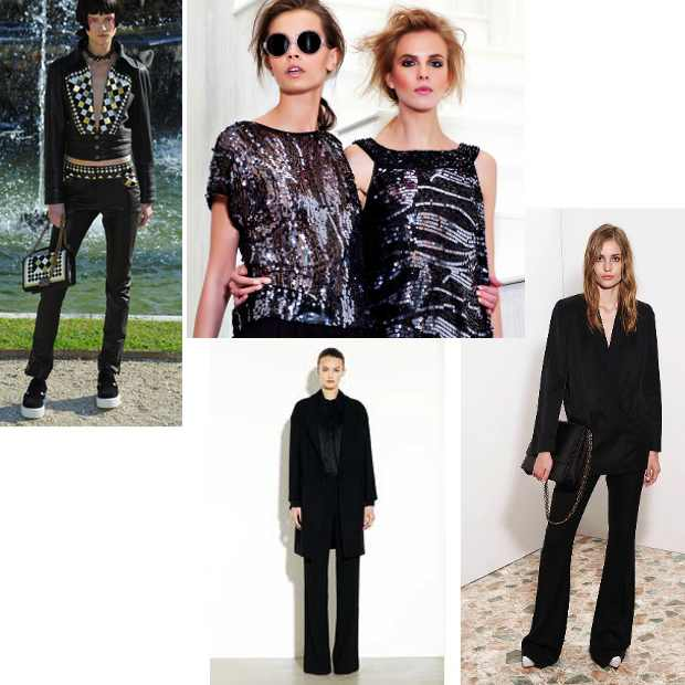 Black, Chanel, Rachel Zoe, Stella Mc Cartney Collage