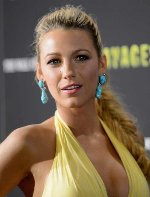 Blake Lively fishtail ponytail