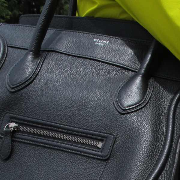 Celine black luggage bag