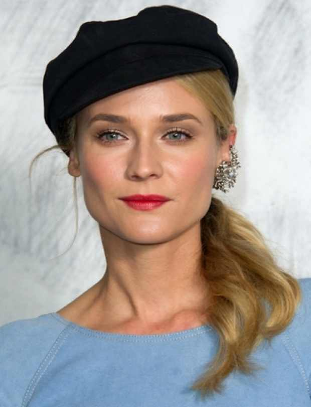 Diane Kruger Side Ponytail from Paris Fashion Week Fall / Winter 2012/13 at the Grand Palais on July 3, 2012 in Paris